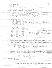 Lecture 1 on Algebraica nd Geometric Vecotrs
