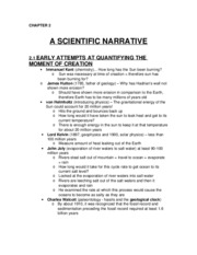 CH 2 - A Scientific Narrative
