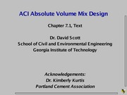 LS 5 - ACI Mix Design