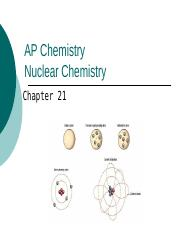 Nuclear Chemistry (Ch 21)