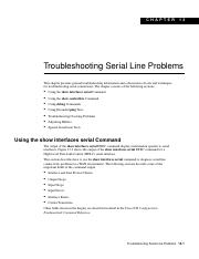 Troubleshooting Serial Line Problems