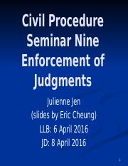 lecture 9 Enforcement of Judgments.pptx