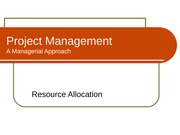 Resource Allocation i