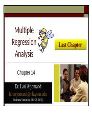 Chp 14 PP Multiple Regression Analysis