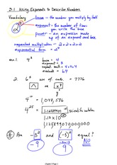 Exponents Notes
