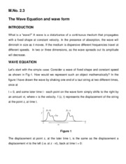 wave equation and wave form
