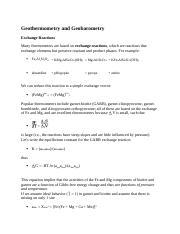Geothermometry and Geobarometry.docx