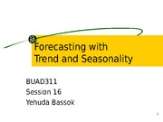 ppt S_16- Forecasting -trend seasonality