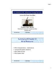 Lecture 3A - Power from Wind - Part 1
