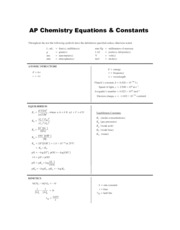 Ap Chem Formula Sheet Related Keywords - Ap Chem Formula ...