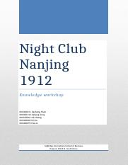 research paper of night club in Nanjing