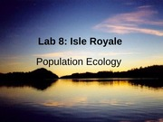 Lab 11: Isle Royale