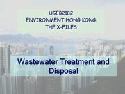 2012 XF03-Wastewater treatemetn and disposal