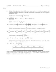 Math 103- Final Exam- April 2005