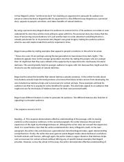 Essay SAT 4 - In Paul Bogards essay Let there be Dark he