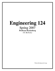 Engineering 124 Notes
