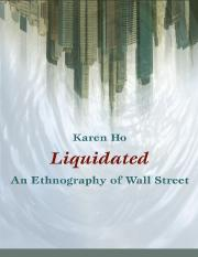Liquidated_ An Ethnography of Wall Street - Karen Ho