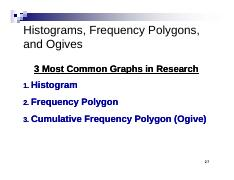 Chapter 2 part 2 histograms frequency polygons and ogives 3 most chapter 2 part 2 histograms frequency polygons and ogives 3 most common graphs in research 1 histogram 2 frequency 2 polygon 3 cumulative frequency q ccuart Image collections