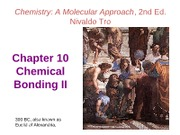 Chapter 10 Part 1 - Chemical Bonding 2 - VSEPR
