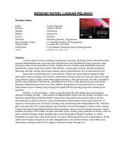 Contoh Karya Ilmiah Novel Laskar Pelangi Ilmusosial Id