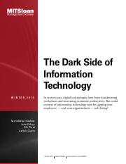 The Dark Side of Information Technology