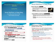 CCN2191 - L5 - Social Welfare in Hong Kong [Compatibility Mode]