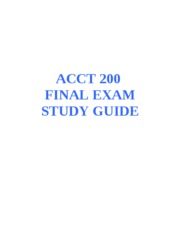 ACCT 200 FINAL STUDY GUIDE
