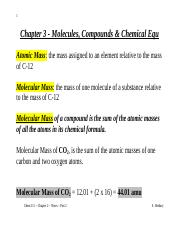 Chem 111 - Chapter 3 - Notes - Part 2.doc