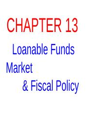 Ch 13 -- Loanable Funds & Fiscal Policy  REVISED PP.ppt