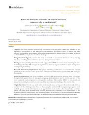 What are the main concerns of human resource managers in organizations.pdf