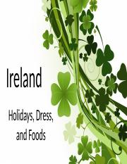 Module 9 Country Presentation - Holidays, Dress, and Foods