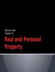Real and Personal Property.pptx
