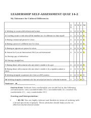 LI-410-LEADERSHIP SELF-ASSESSMENT QUIZ 14-2-My Tolerance for Cultural Differences.docx