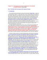 Economics 110 Chapter 10 Role of Government in Japanese Economy and Japanese International Economic