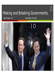 08 - Making and Breaking Governments