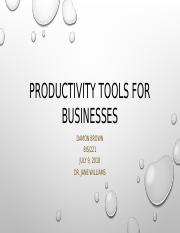 BIS 221 Week 5 Productivity Tools for Businesses Presentation Assignment .pptx