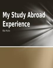 23. My Study Abroad Experience