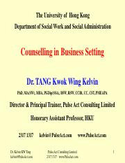 SOWK Counselling in Business Setting-Counselling and its skills suitable for non-counselling use