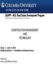 Class 3 - Building Systems I - Foundation and Superstructure - 6.14.18.pdf