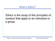 Chapter 2 - Ethical and Legal Considerations