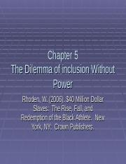 Chapter 50. The Dilemma of Inclusion without Power.ppt