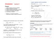 Logistic Regression and Predictors Notes