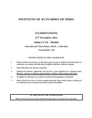 (www.entrance-exam.net)-Institute of Actuaries Of India-Subject CT4- Models Sample Paper 2