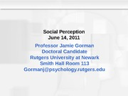 5 Social Perception