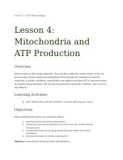 Unit 2_ Lesson 4_ Mitochondria and ATP Production.docx