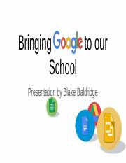 Bringing Google to our School