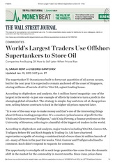 World's Largest Traders Use Offshore Supertankers to Store Oil- WSJ
