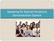 2011 Speaking for Special Occasions Student Version