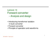 Lecture 14 forward converter