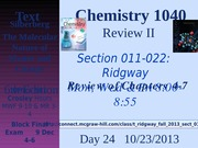 2014 Chem 1040 Day 24 - Review 4~7
